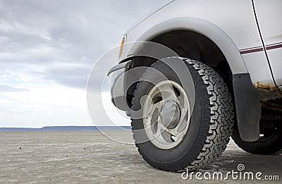 Truck Front End On Desert Playa