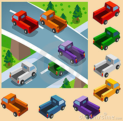 Truck Isometric set