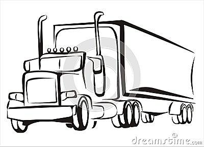 Truck, lorry, iosolated illustration