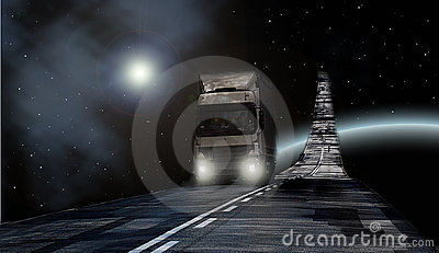 Truck on Milky way