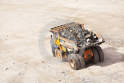 Truck of mining in open cast