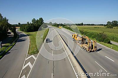 Truck on modern highway