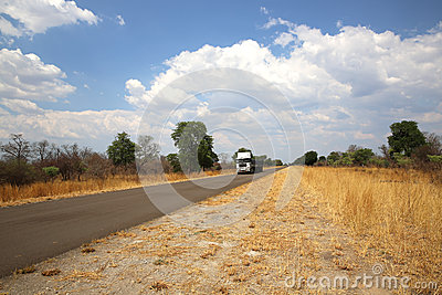 Truck in Namibia