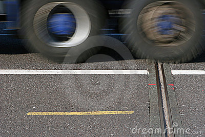 Truck passing by