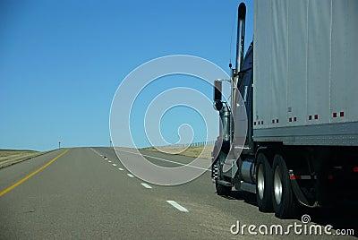 Truck on prairie