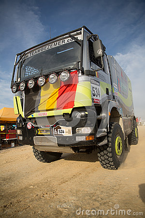 Truck at the Rally Dakar 2013 Editorial Stock Photo