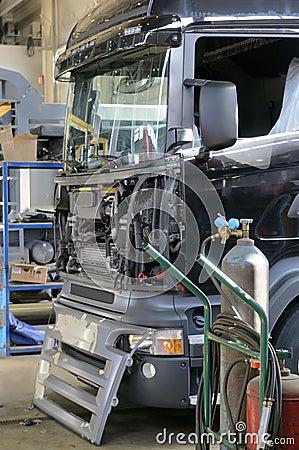 Truck repair.