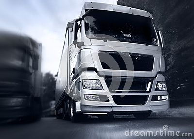 Truck On The Road Stock Image - Image: 25759991