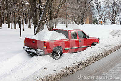 Truck Stuck in Snowbank or Ditch