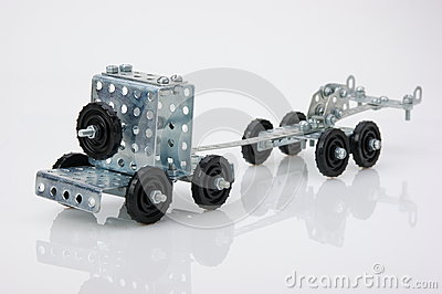 Truck tractor toy - metal kit