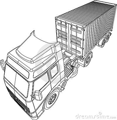 Truck and trailer container van