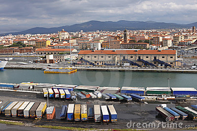 Truck Trailers Livorno Port