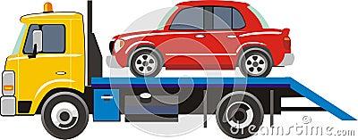 Truck for transportation car