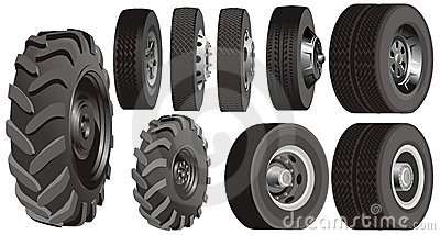 Truck wheels set