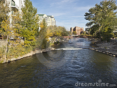 Truckee River in downtown Reno, Nevada