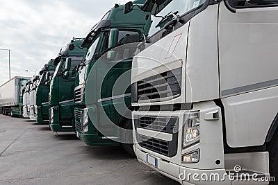 Trucking and logistics Stock Photo