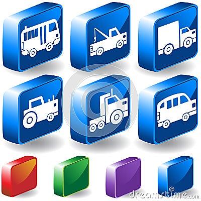 Trucks 3D Button Set