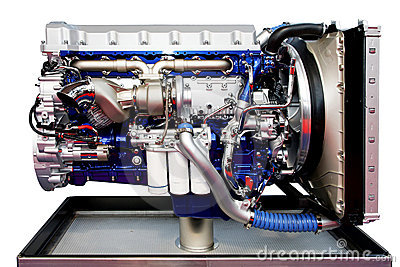 Trucks Engine Blue Stock Photo - Image: 6483800