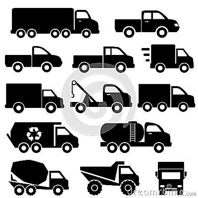 Trucks icon set