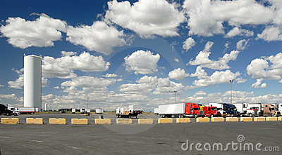 Trucks  parking lot