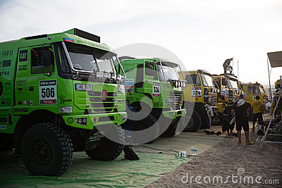 Trucks at the Rally Dakar 2013 Editorial Photo