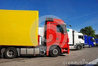 Trucks at rest area