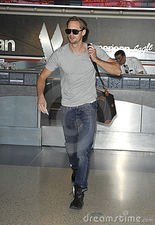 True Blood actor Alexander Skaarsgard at LAX Editorial Image