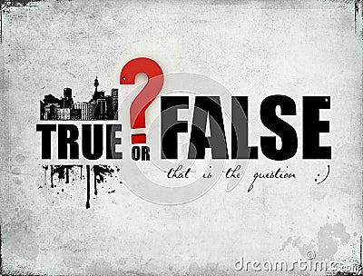 True or false stock photo image 16384040