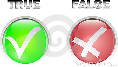 True false button