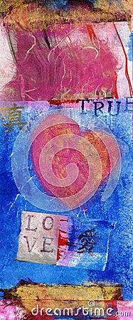 TRUE LOVE Art Collage