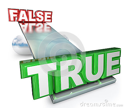 True Vs False Truth Against Lies Balance See-Saw