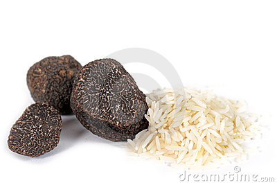 Truffles and rice