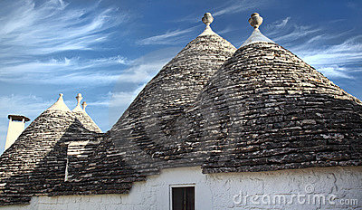 Trulli and blue sky
