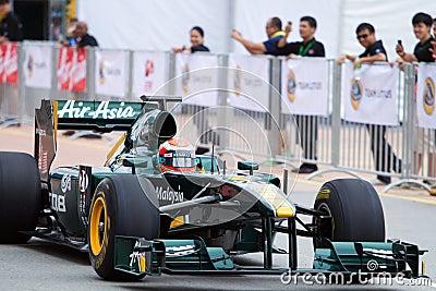 Trulli down the straight in a F1 demo run Editorial Photo