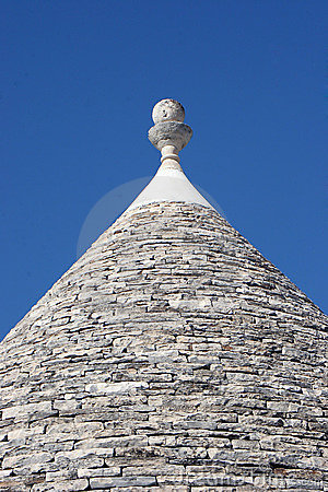 Trulli roof on blue sky