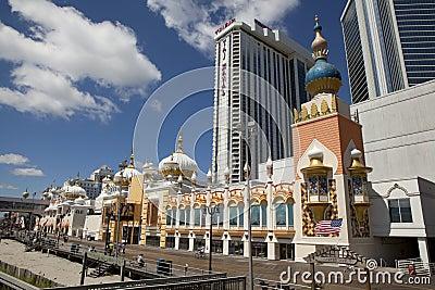 Trump Taj Mahal on the Atlantic City Boardwalk Editorial Photo