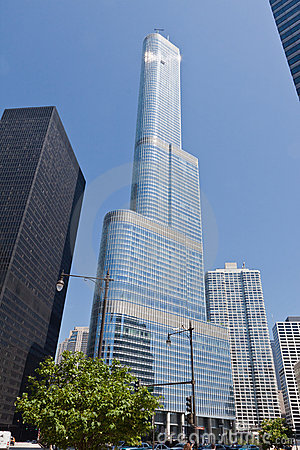 Trump Tower in Chicago Editorial Photo