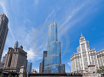 Trump Tower in Chicago Editorial Stock Photo