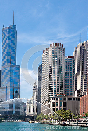 Trump Tower in Chicago Editorial Stock Image