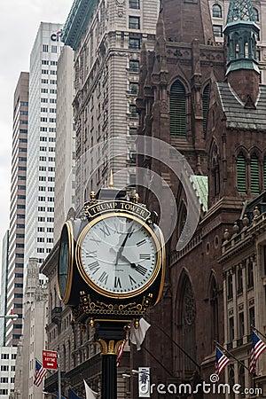 Free Trump Tower Clock Presbyterian Church New York Royalty Free Stock Photos - 27227098