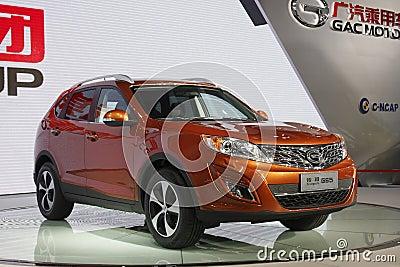 Trumpchi GS5 SUV premiere in Guangzhou Auto Show Editorial Stock Image