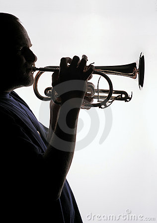 Free Trumpet Player 02 Stock Photo - 9297170