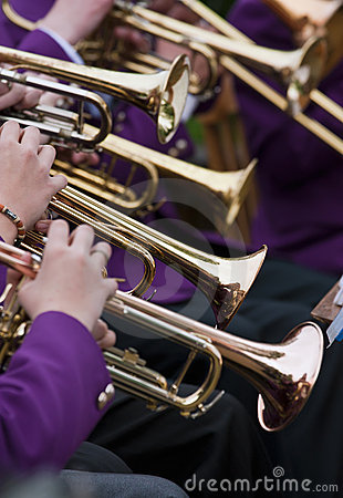 Free Trumpet Player S Royalty Free Stock Photo - 15279005