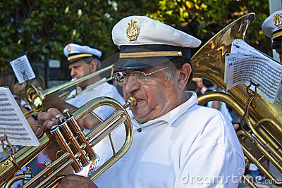 Trumpet player  during the San Giovanni event Editorial Photography