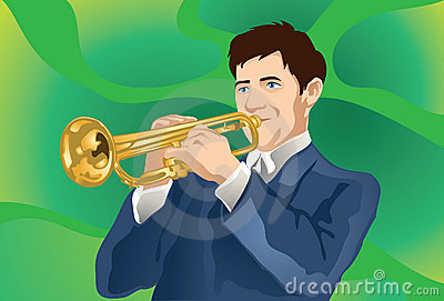Trumpet Player At Work!