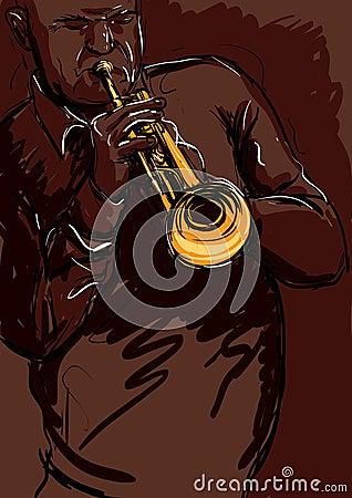 Trumpet playng