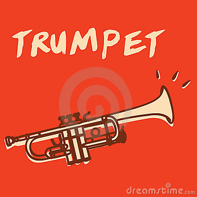 Free Trumpet Vector Stock Photography - 23072492