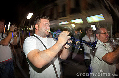 Trumpeter from Local Folkloric music band Editorial Stock Photo