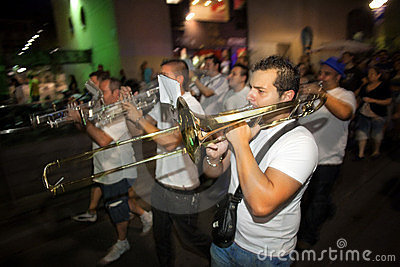 Trumpeter from Local Folkloric music band Editorial Photography
