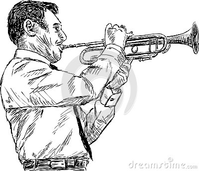 Trumpeter player